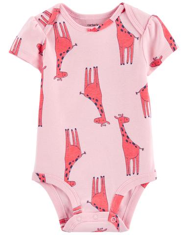 Carter's 粉紅長頸鹿包屁衣(6M-24M)