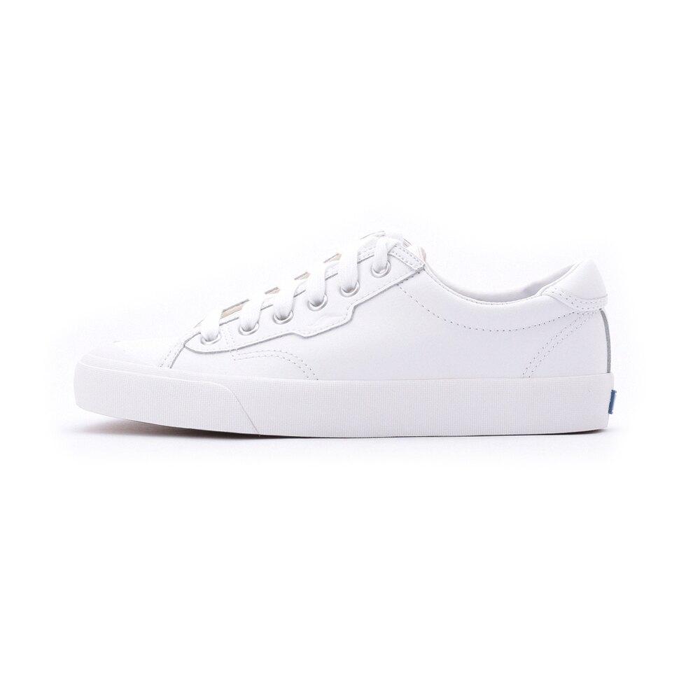 【領券滿1200再折120】KEDS CREW KICK 經典半月皮革綁帶休閒鞋 白 9202W122930 女鞋
