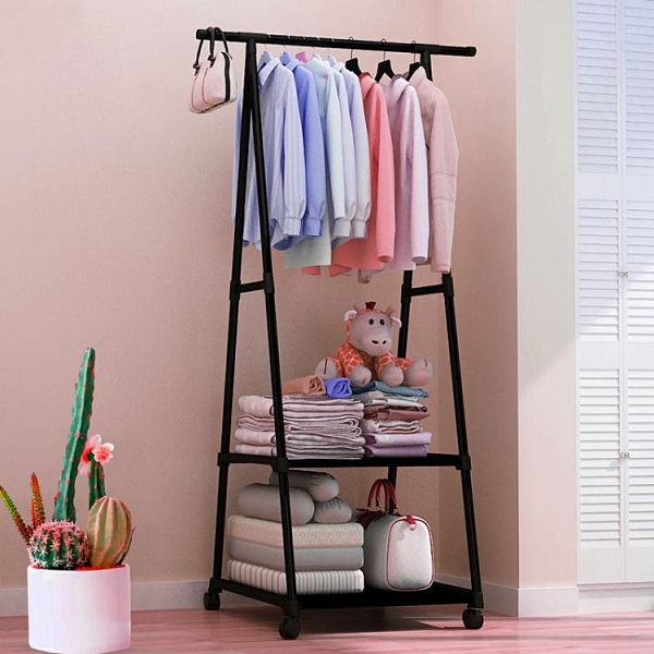 衣帽架 簡易衣帽架晾衣架落地室內折疊掛衣架子家用臥室衣服收納置物架柜