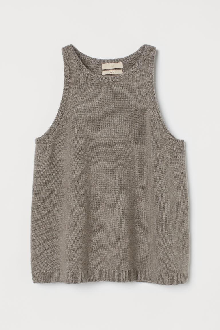 H & M - 喀什米爾羊毛背心上衣 - 褐色