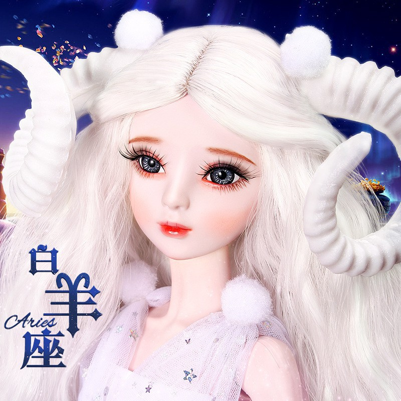 爆款新品60厘米sd3分古裝公主水瓶美人魚公主十二星座洋娃娃兒童女孩玩具..