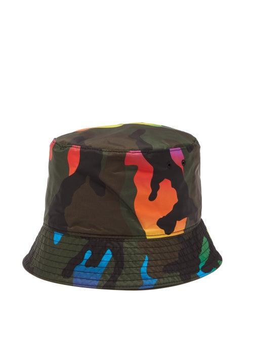 Valentino Garavani - Reversible Camouflage-print Shell Bucket Hat - Mens - Multi