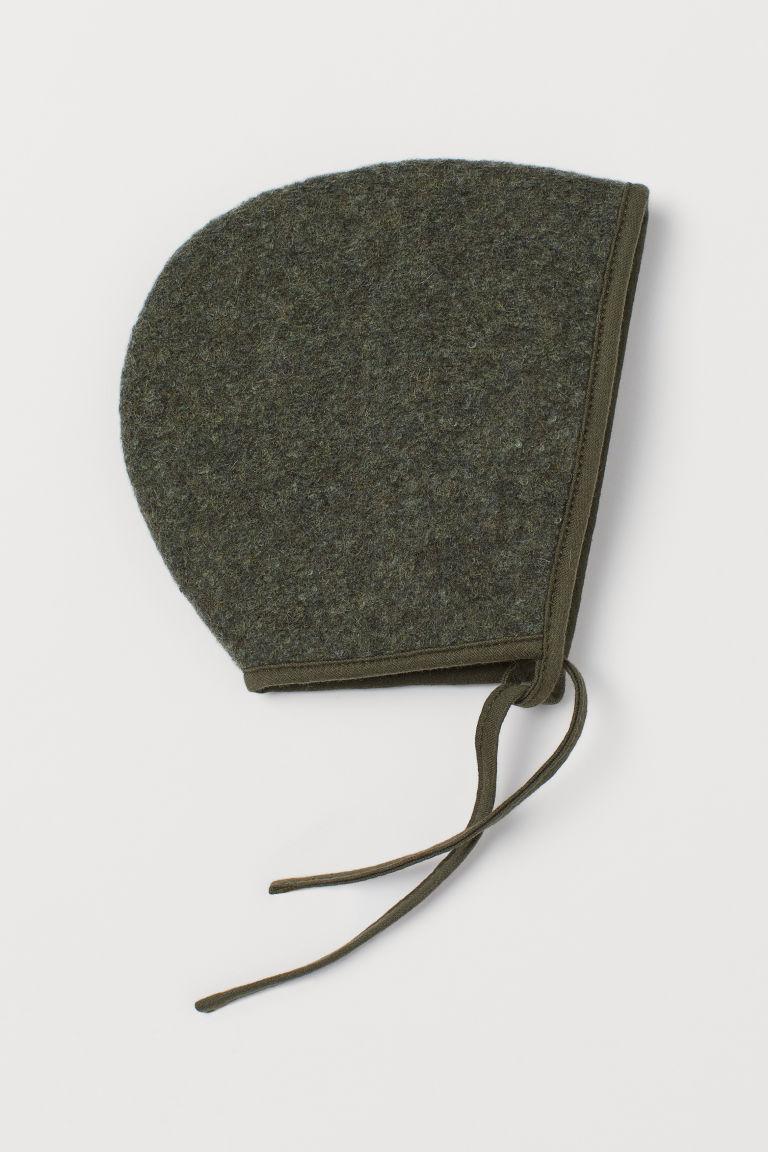 H & M - 羊毛混紡童帽 - 綠色