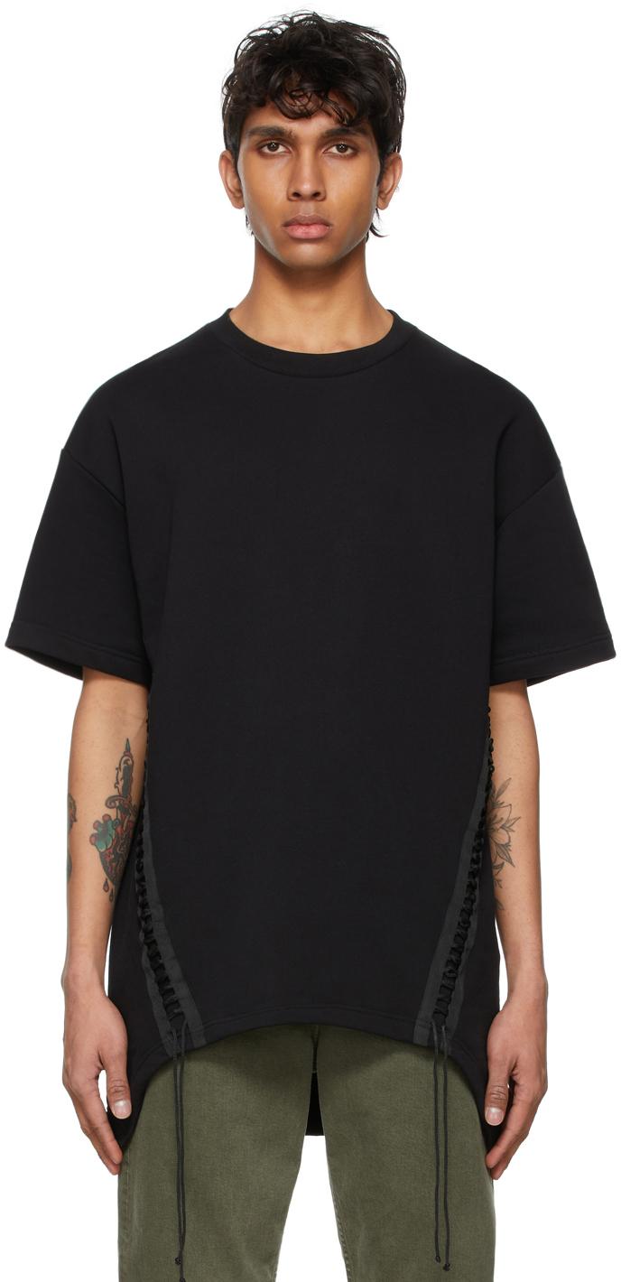 Helmut Lang 黑色 Laced T 恤