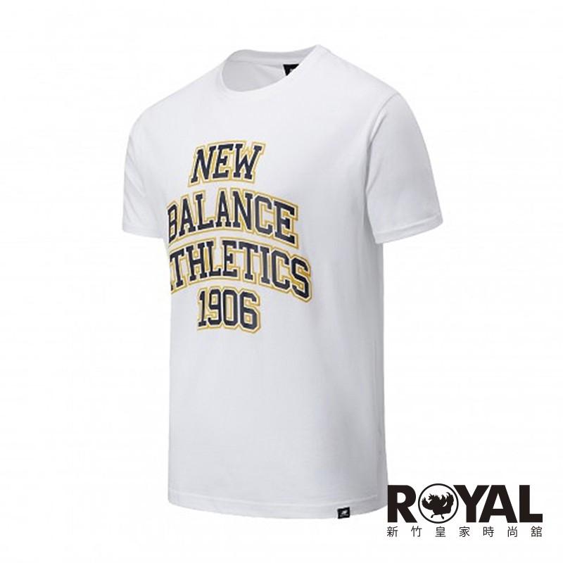 New balance 白色 棉質 短袖 T恤 男女款 NO.H3038 MT035128WT 廠商直送 現貨