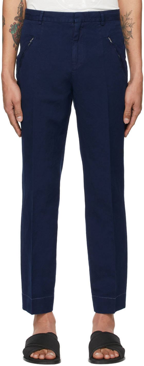 Maison Margiela 靛蓝色中腰长裤
