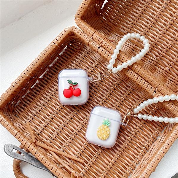 [ Airpods Pro 1/2 ] 簡約透明水果珍珠手鍊 蘋果無線耳機保護套 iPhone耳機保護套