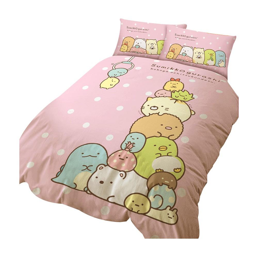 戀家小舖【角落小夥伴-多款可選】床包枕套組 角落生物 台灣製 單人/雙人/加大