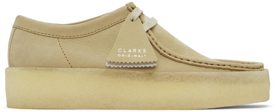 Clarks Originals 驼色 Wallabee Cup 牛巴革莫卡辛鞋