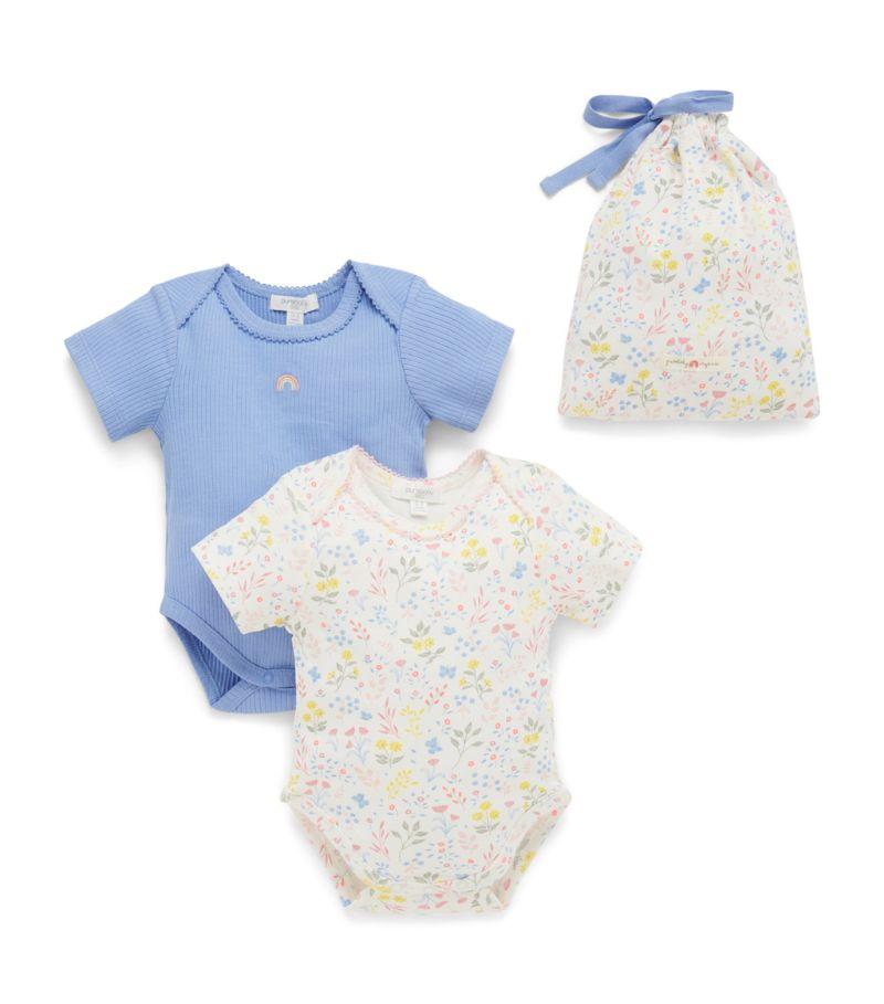 Purebaby Set Of 2 Bodysuits (0-12 Months)