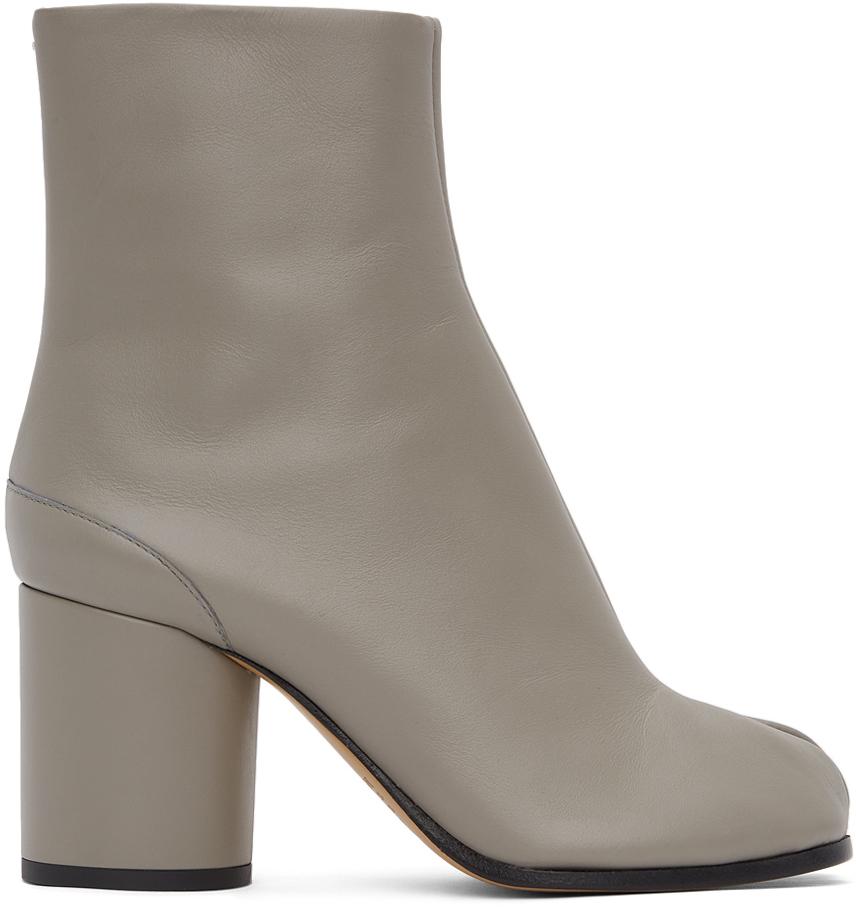 Maison Margiela SSENSE 独家发售灰色 Tabi 踝靴