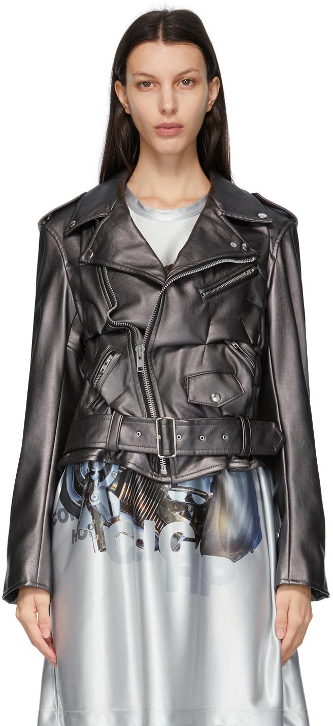 Comme des Garçons Homme Plus 银色合成皮革夹克