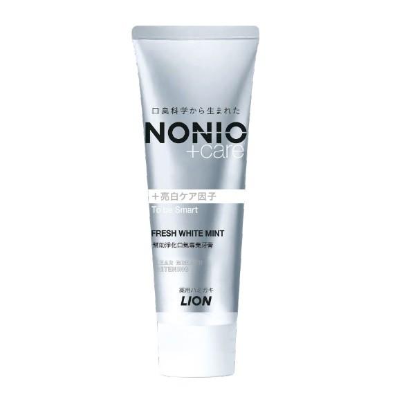 日本獅王NONIO終結口氣牙膏 晶燦亮白 130g【康是美】