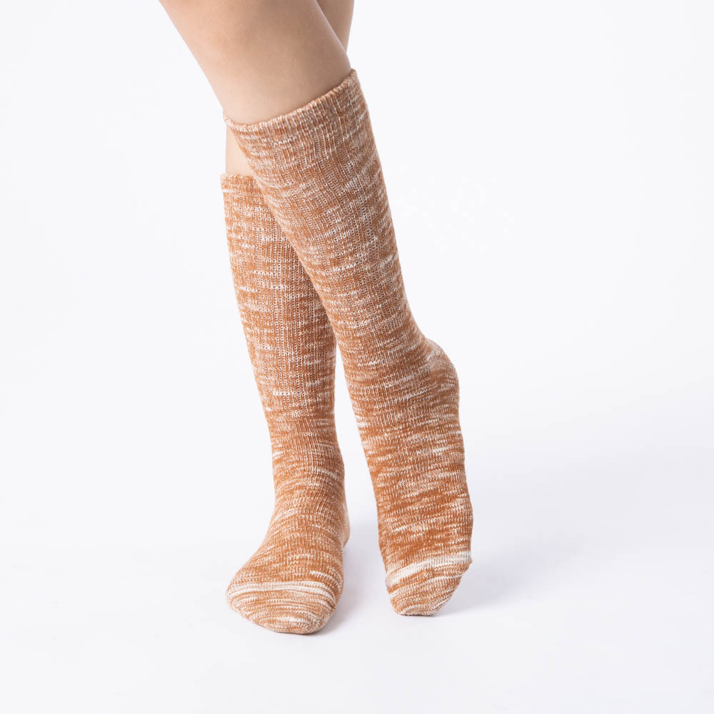 男繽紛雪花發熱襪-淺咖啡 (商品編號:S1000234)