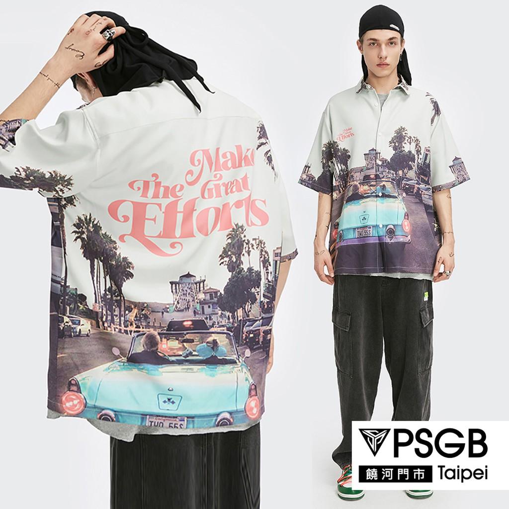 PSGB Taipei - N4-0043 車風景短襯衫 - 韓風 - 春夏新品 - 流行服飾 - 現貨
