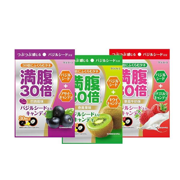 日本 滿腹30倍風味糖 40.7g 水果糖 糖果