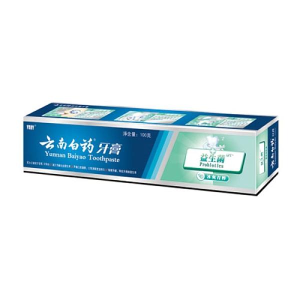 雲南白藥益生菌牙膏-冰爽青檸100g【愛買】