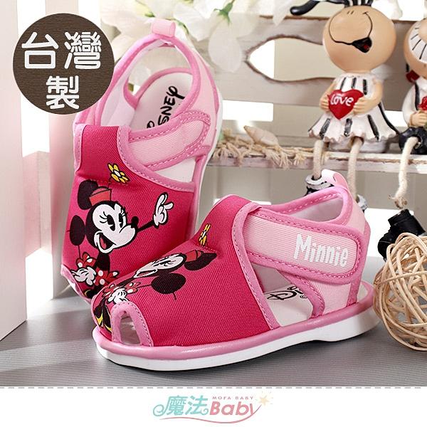幼童鞋 台灣製迪士尼米妮授權正版寶寶嗶嗶鞋 魔法Baby