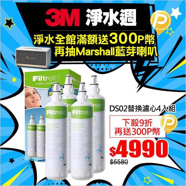 3M DS02替換濾心2入特惠組x2組