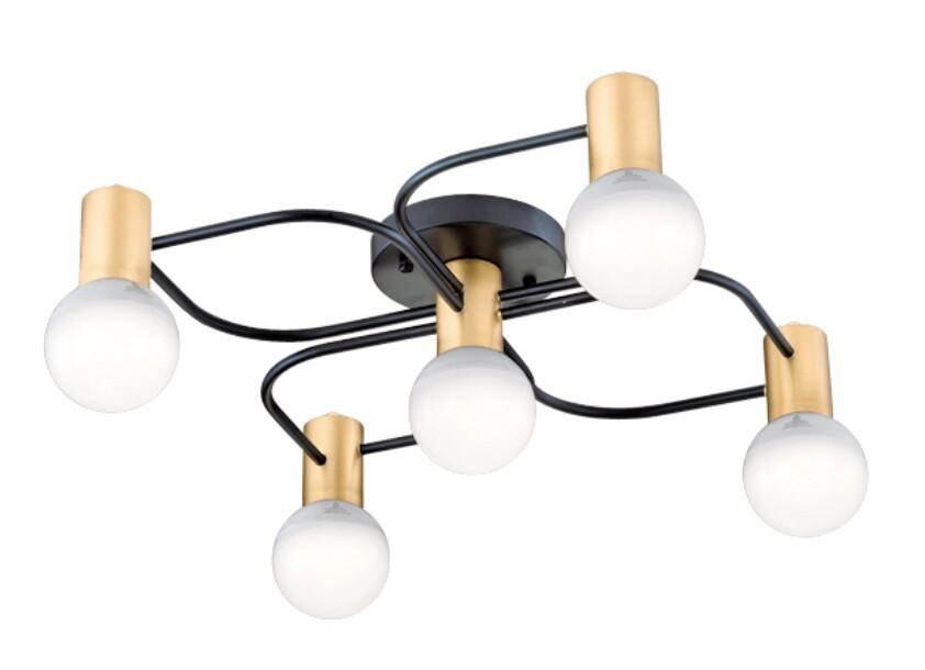 鐵藝歐式造型吸頂5燈