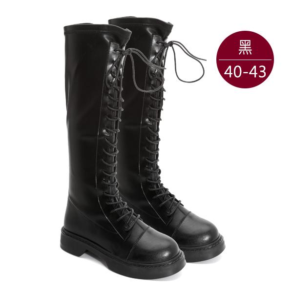 中大尺碼女鞋1113【SC-9906】真皮長筒靴 /馬汀靴 黑色 40-43碼 172巷鞋舖(預購)
