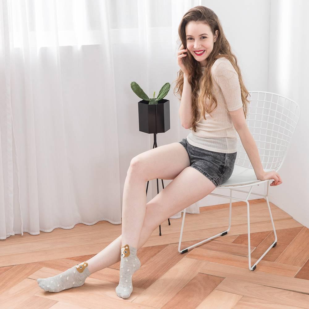 貝柔韓風立體少女襪-吉娃娃彩色(1雙) 【康是美】