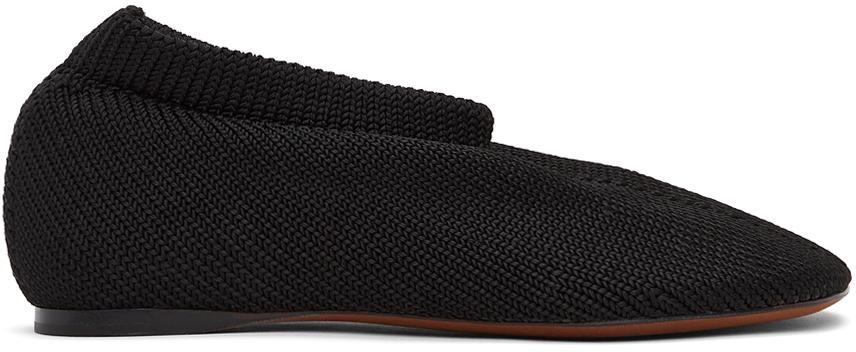 Proenza Schouler 黑色 Rondo Knit Sock 拖鞋