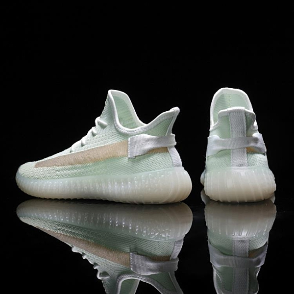 男士小白鞋 2021新款春季椰子男鞋350滿天星透氣運動休閑鞋學生網面飛織潮鞋 小衣裡