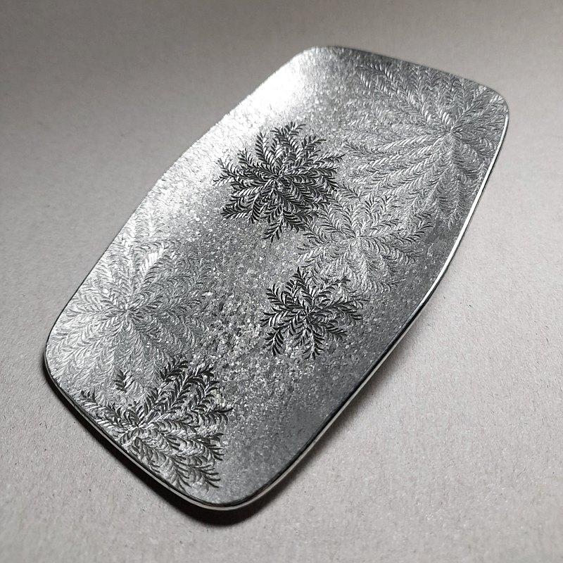 純錫手工雕刻長方皿 ─ 古道 苔痕II