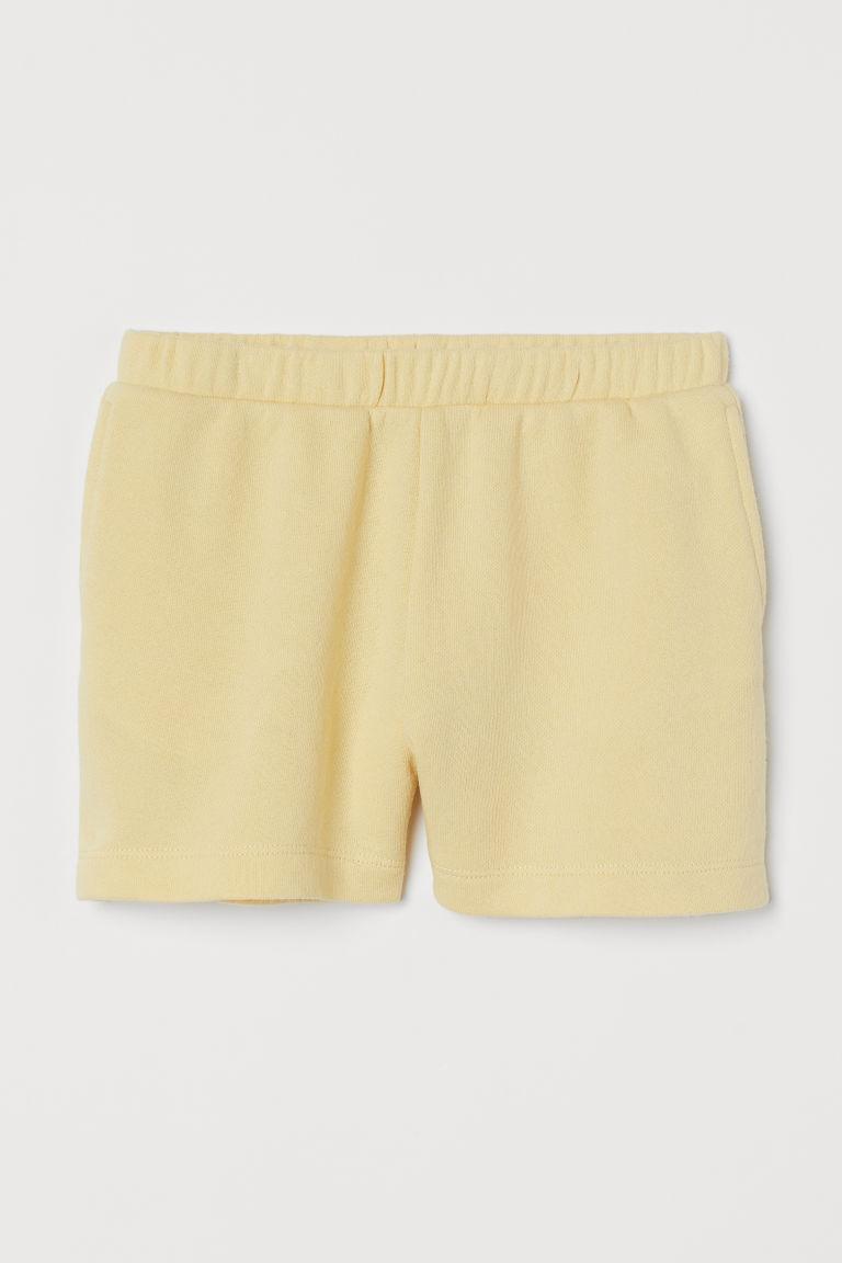 H & M - 運動短褲 - 黃色