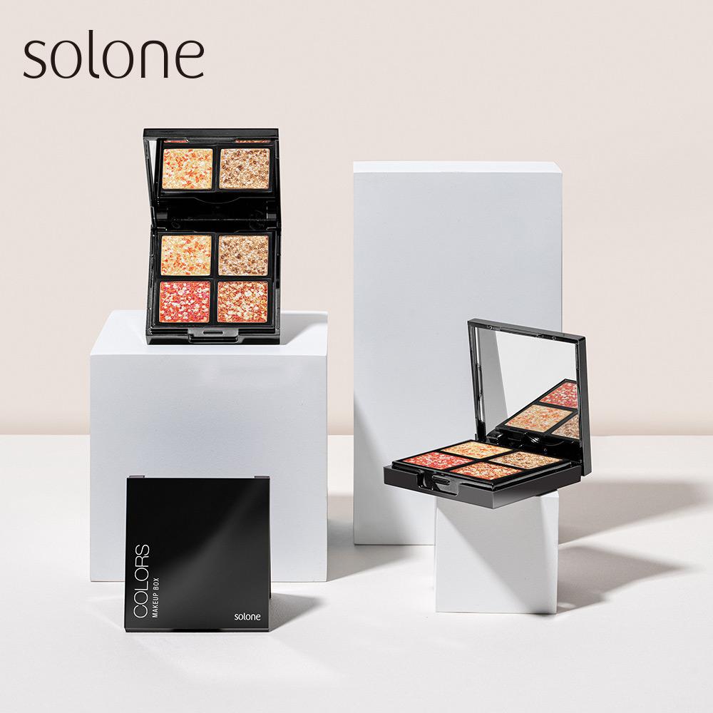 【初▪心75折up】Solone 原礦寶石眼影 4色組