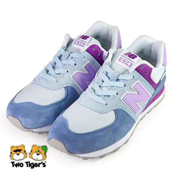 New Balance 復古 574 鞋帶款 運動鞋 大童鞋 藍紫 NO.R6764(GC574SL2)