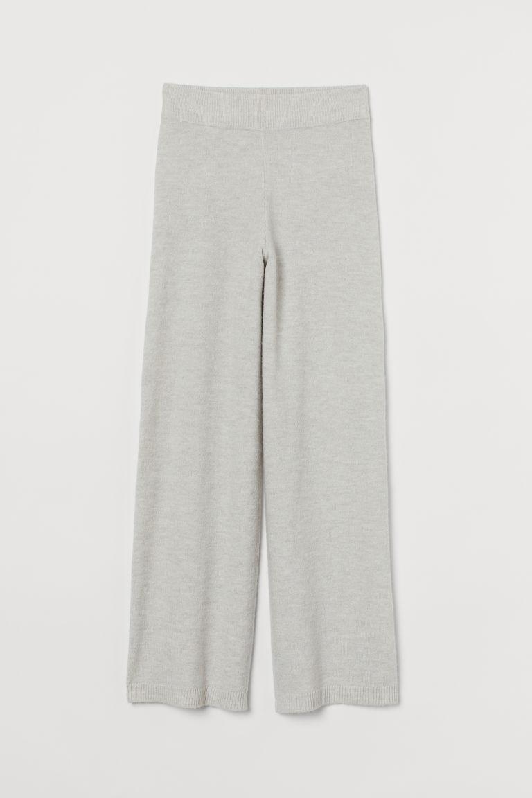 H & M - 針織長褲 - 褐色