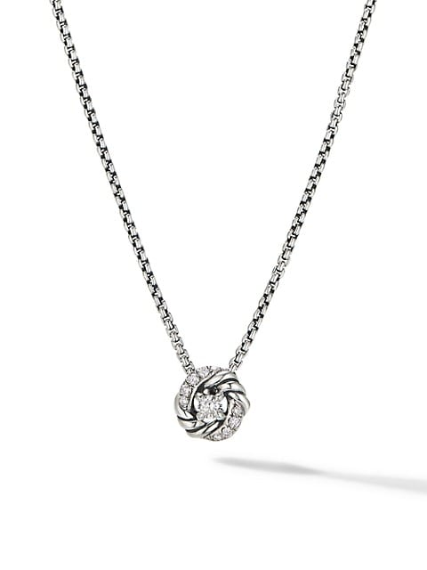 Petite Infinity Pendant Necklace With Diamonds