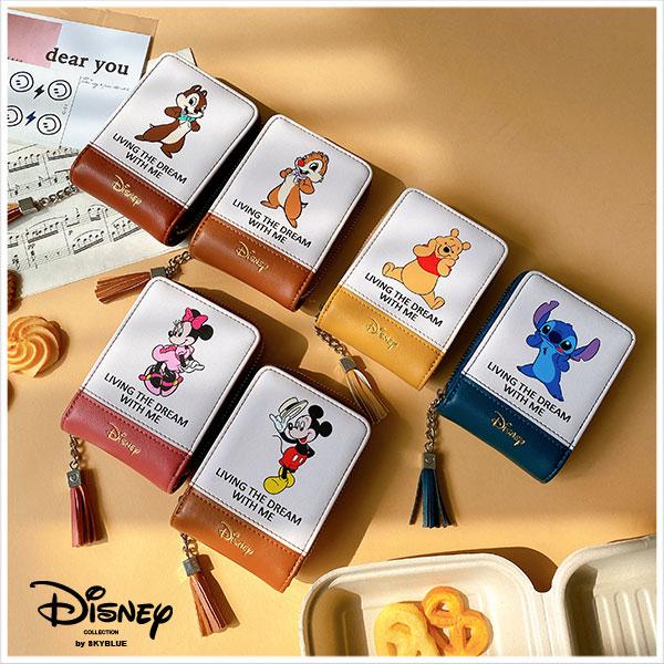 天藍小舖-迪士尼系列可愛人物皮革風琴式票卡包/名片夾-共6色-$390【A09090402】