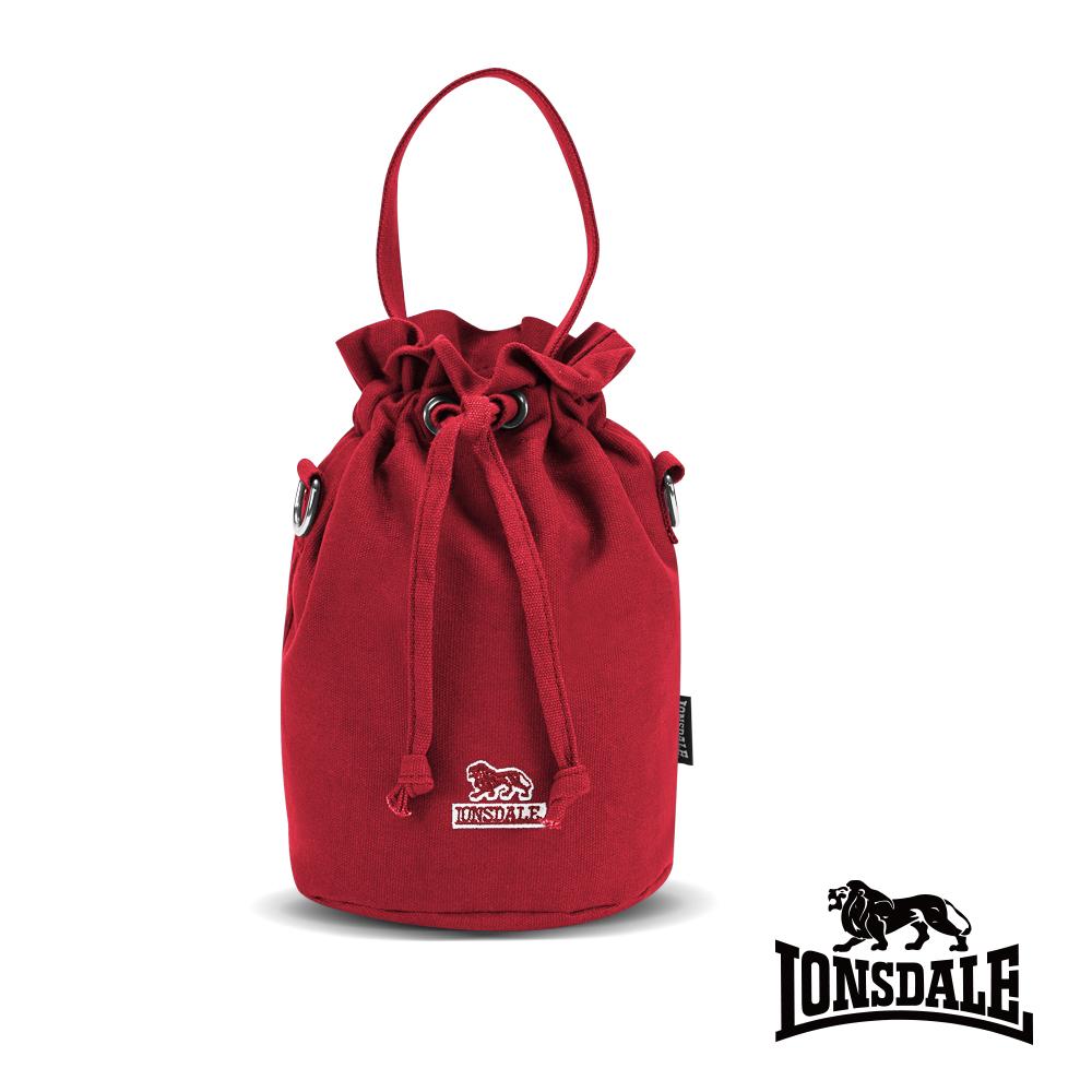 【LONSDALE】英國60周年經典小獅包-帆布斜背水桶包 LD1313 深紅