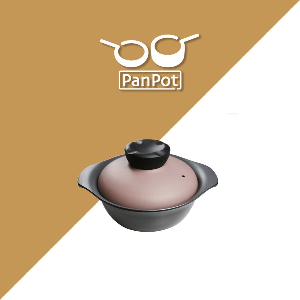 【日本PANPOT】 嫣紫系列 18CM 低身萬用鍋(含蓋/可電磁爐)