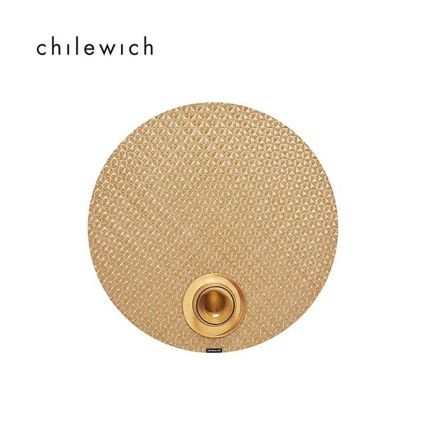 美Chilewich-Origami紗線編織系列圓餐墊-38CM-蜂蜜茶棕