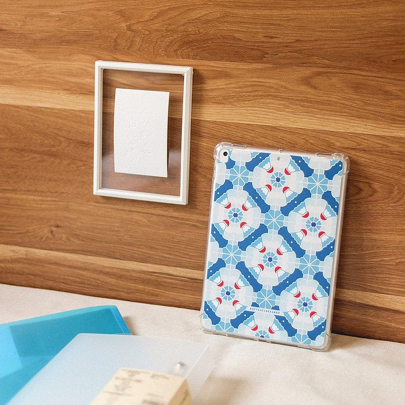 富士山 磁磚系列 / iPad 保護殼 - 深藍