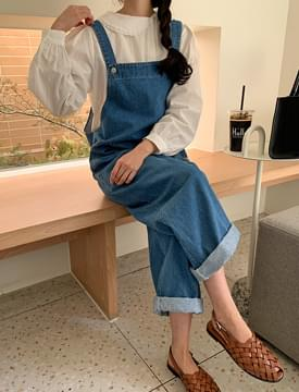 韓國空運 - Evelyn Denim Overall Pants 牛仔褲