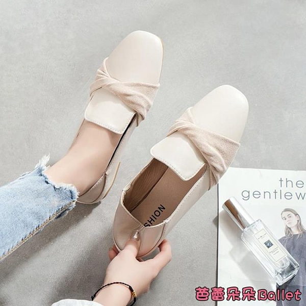 穆勒鞋 包頭半拖鞋女春秋時尚百搭蝴蝶結仙女風懶人穆勒鞋春季單鞋女-Ballet朵朵