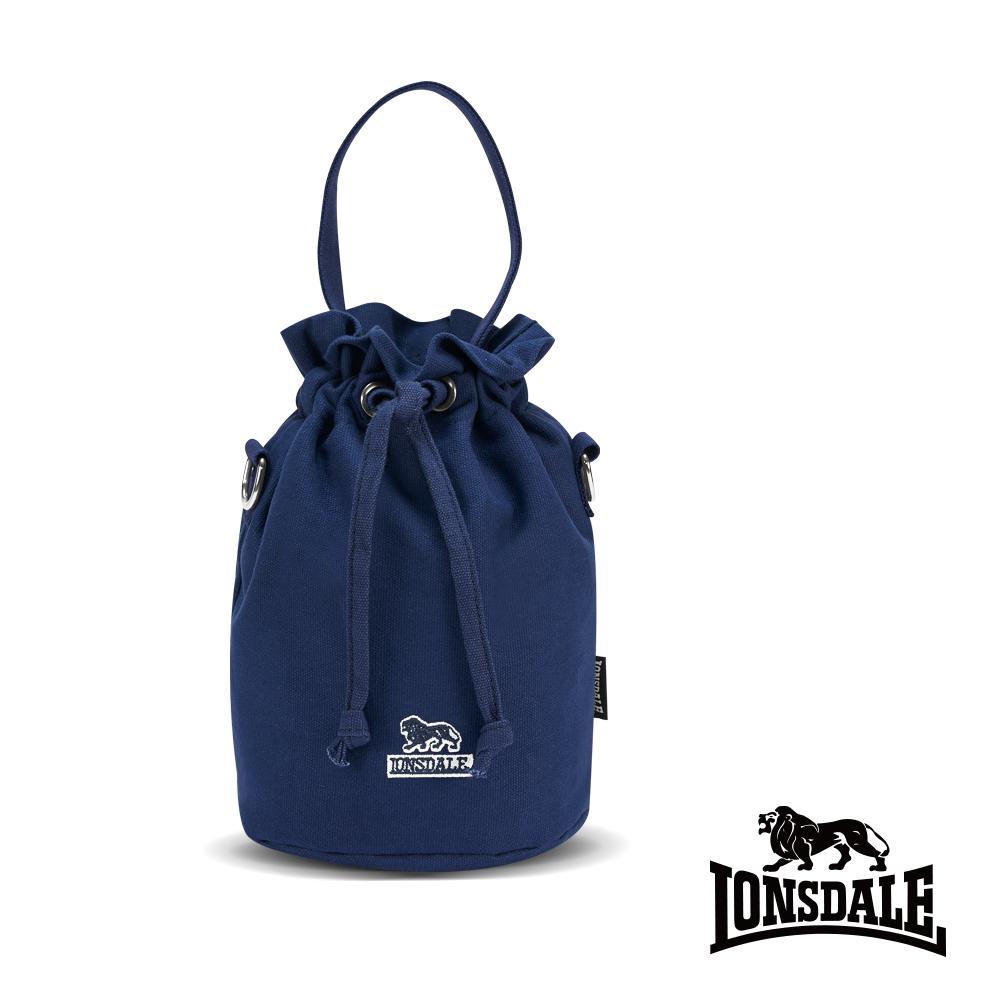 【LONSDALE】英國60周年經典小獅包-帆布斜背水桶包 LD1313 深藍