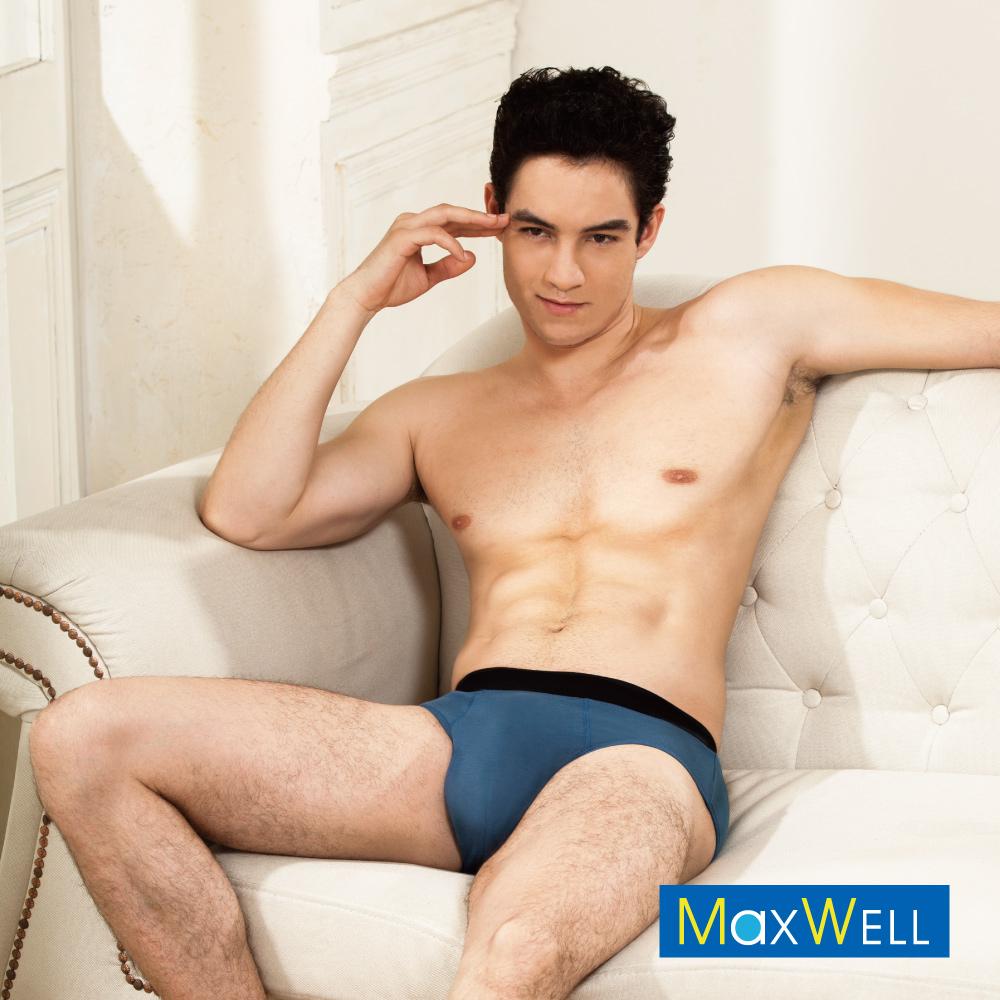 MaxWell 頂級纖維消臭彈力男性三角 M-Q 內褲 藍色 2177-53