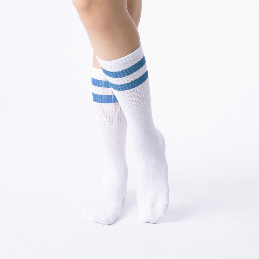 愛的主張雙線襪-自由藍(商品編號:S0407461L)