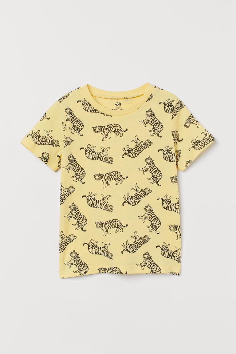 H & M - 棉質T恤 - 黃色