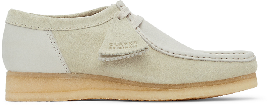 Clarks Originals 灰白色 Wallabee 2 CLR 莫卡辛鞋