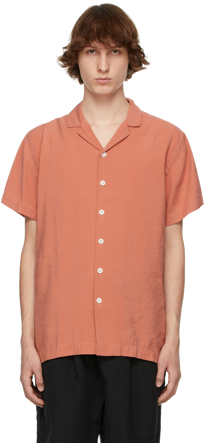 Schnayderman's 橙色开领短袖衬衫