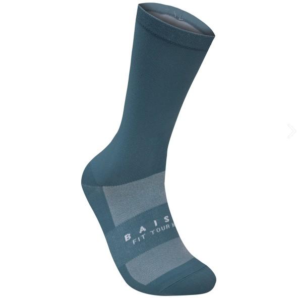 BAISKY百士奇自行車襪運動襪 簡樸 灰藍