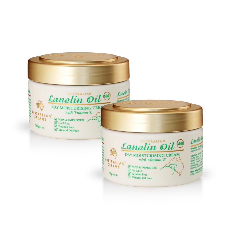 【澳洲 G&M】MKII金蓋綿羊油滋潤日霜含維他命E(250g/罐 2入組)