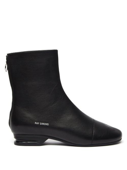 Raf Simons - 2001 Logo-print Leather Boots - Mens - Black